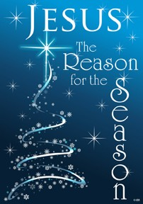 Mini Flag, The Reason for the Season-mini flag, outdoor flag, christmas, jesus, christianity, the reason for the season, winter