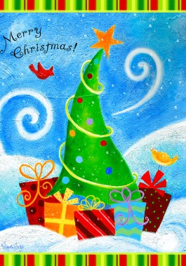 Large Flag, Winter Joy-large flat, outdoor flag, christmas, winter, joy