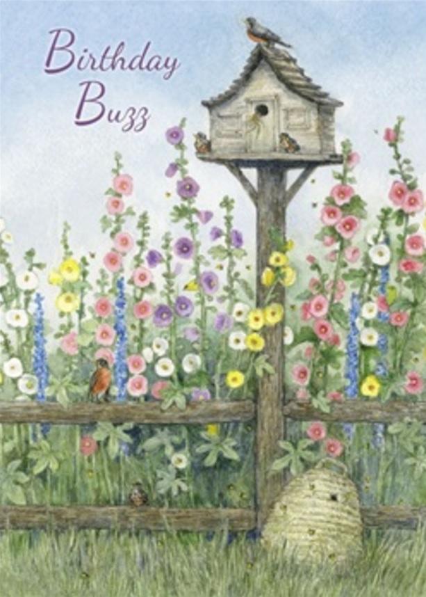 Birthday Card, Birdhouse and Hive-birthday, card, birdhouse, hive