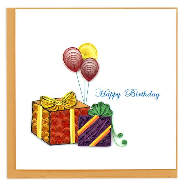 Quilling Card, Birthday-birthday card, handmade card, quilling card