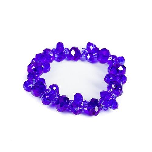 Faceted Bead Bracelet - Blue-faceted, blue, bead, bracelet