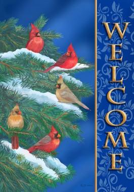 Mini Flag, Cardinal Welcome-