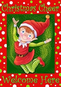 Large Flag, Christmas Elf-outdoor flag, decorative flag, Christmas Elf,