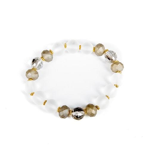 Clear Bubble Bracelet - Gray-jewelry, bracelet