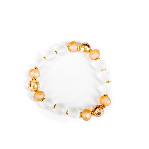 Clear Bubble Bracelet - Taupe-bracelet, jewelry