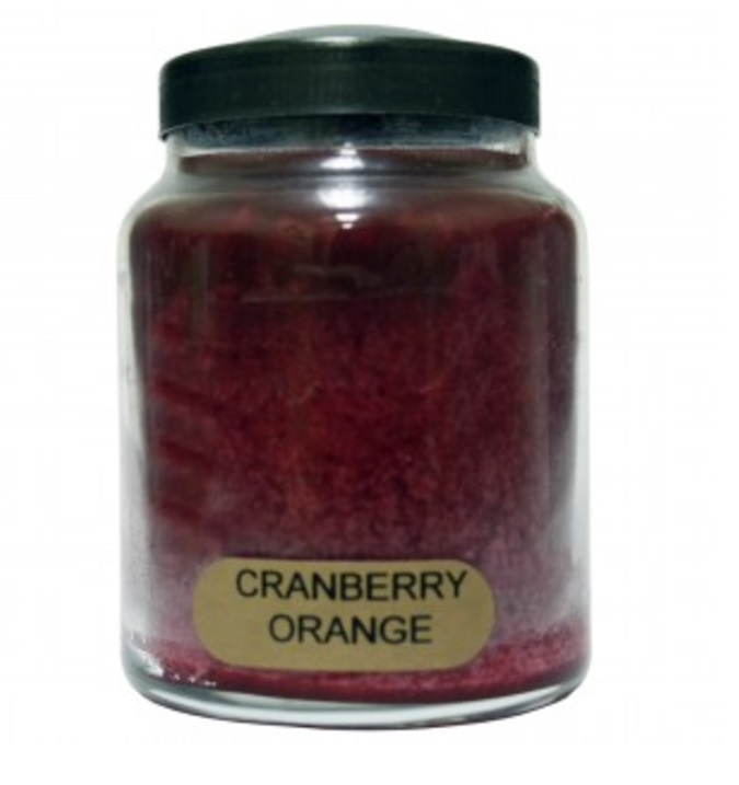 A Cheerful Giver Cranberry Orange Baby Jar Candle-cinnamon candle, a cheerful giver, jar candle, jacksonville candles