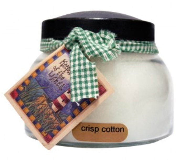 A Cheerful Giver Crisp Cotton Mama Jar Candle-crisp cotton, cotton candle, jar candle, a cheerful giver, Jacksonville candles