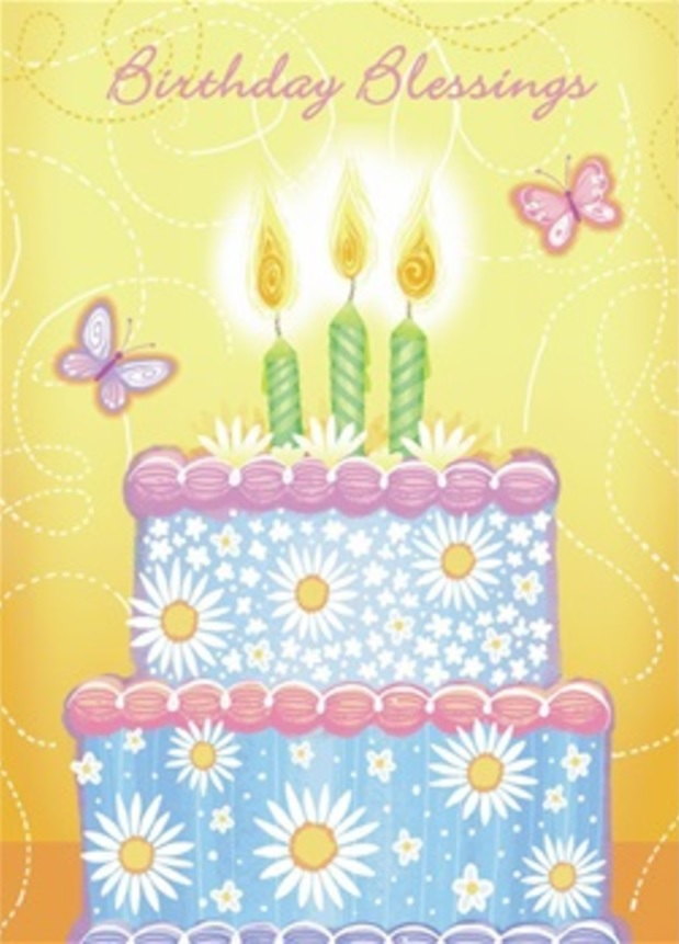 Birthday Card, Daisy Cake-birthday, card, daisy, cake