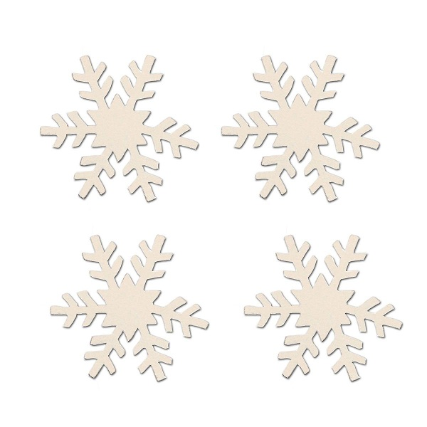 Snowflake Magnets, 4-Pack-snow, magnet, photo, display, carol, roeda