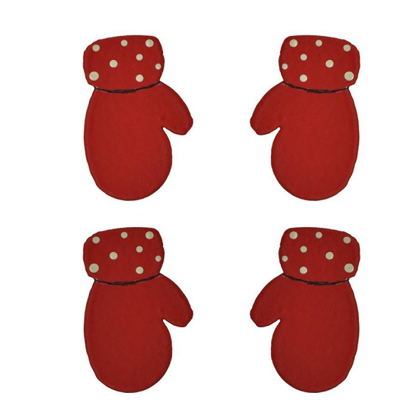 Mittens Magnets, 4-Pack-magnet, christmas, mitten, photo, display, roeda, carol