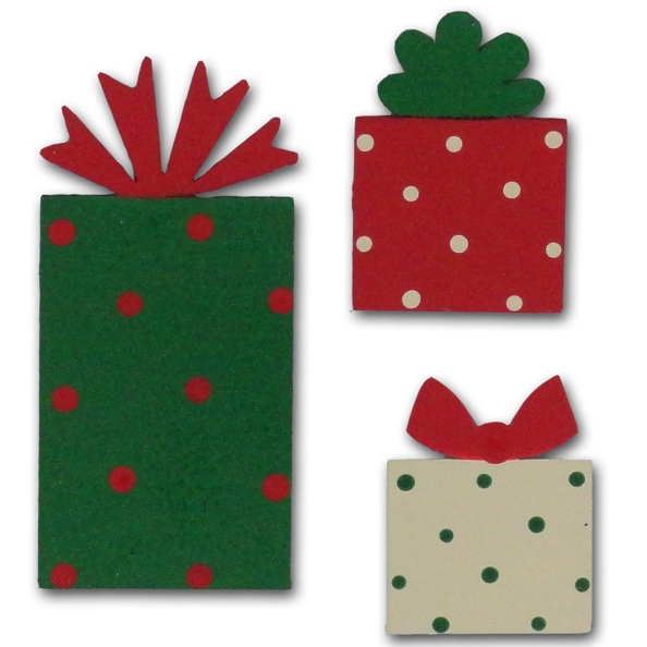 Christmas Present Magnets, 3-Pack-christmas, magnet, photo, display, carol roeda
