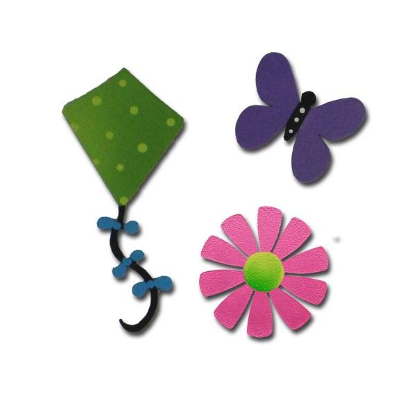 Spring Fever Magnets, 3-Pack-spring magnet, roeda, carol, photo, display, board