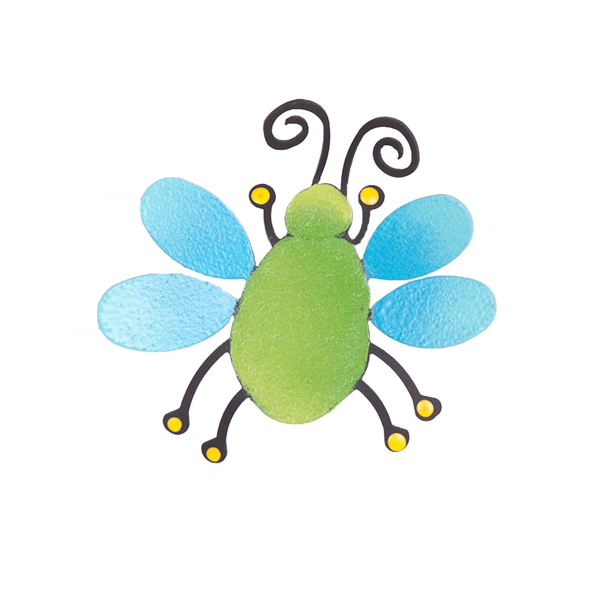 Small Flying Bug, Green and Blue-roeda, photo, magnetic, display