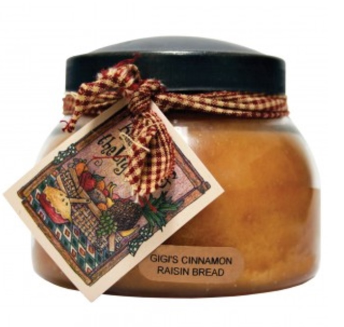 A Cheerful Giver Gigi's Cinnamon Raisin Bread Mama Jar Candle-cinnamon raisin bread, Keepers of Light, jar candles, a cheerful giver, Jacksonville candles