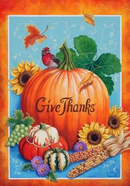 Large Flag, Thanksgiving Harvest-outdoor flag, decorative flag, Thanksgiving, porch flag
