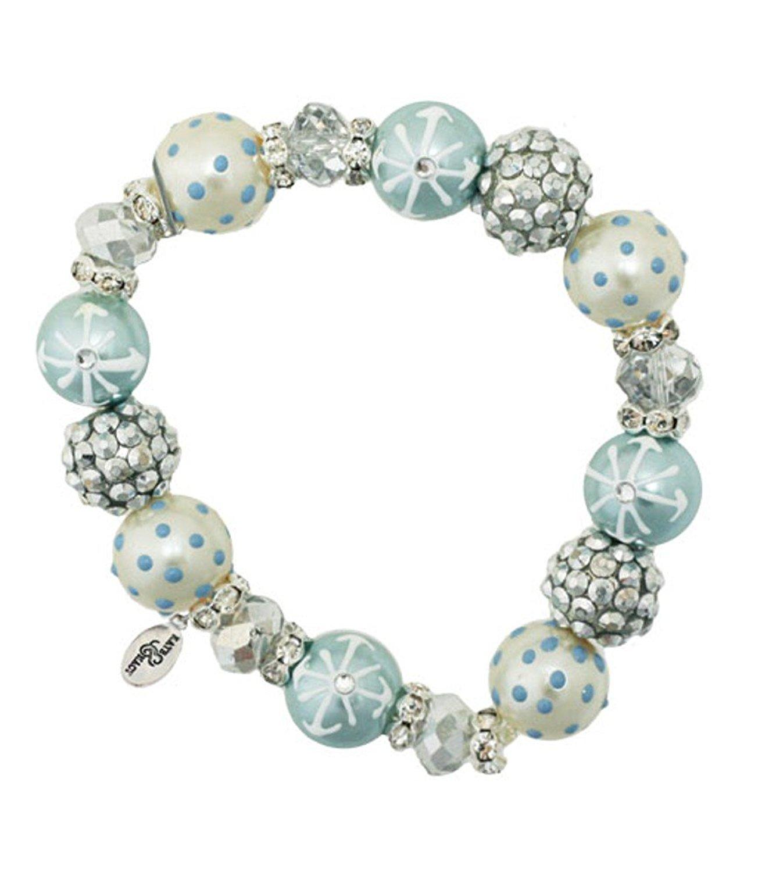 Glittered Snow Bracelet-snow, winter, kate and macy, bracelet