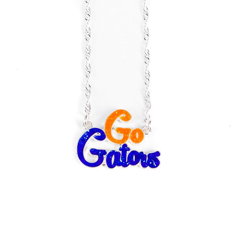 Go Gators Necklace-gators, necklace, gators necklace, jacksonville florida, florida, football
