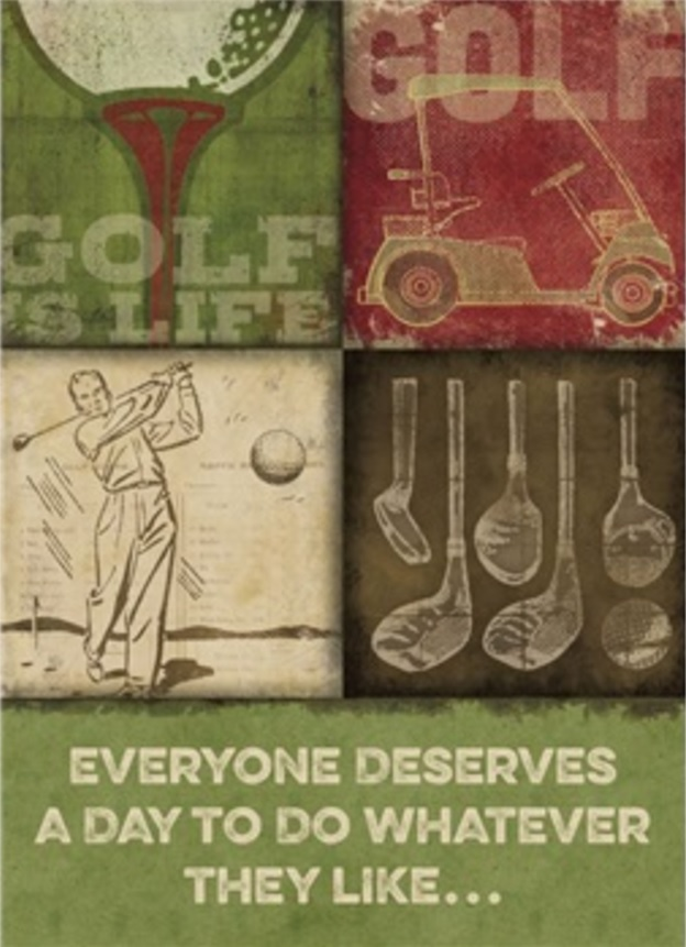 Birthday Card, Golf-birthday, card, golf