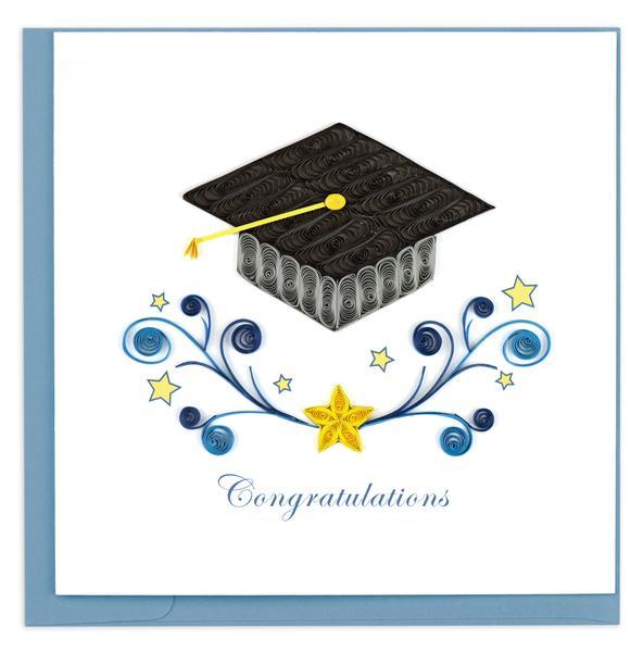 Quilling Card, Graduation Congratulations-congratulations card, quilling card, handmade card