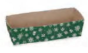 Paper Bakeware, Loaf Baking Pans, Green Snowflake-bakeware, paper, christmas