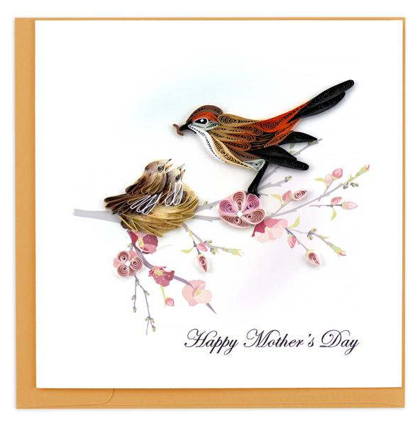 Quilling Card, Happy Mother's Day-greeting card, quilling card, mother's day card, handmade card