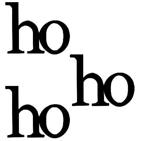 Ho Ho Ho Magnets, 3-Pack Black-Christmas, letters, magnets, photo display, Roeda