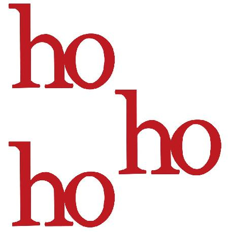 Ho Ho Ho, 3-Pack, Red-Christmas, Roeda, Magnet, Display, Photo