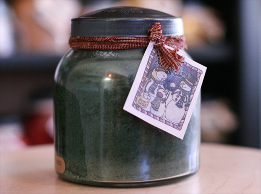 A Cheerful Giver Holly Tree Papa Jar Candle-holly tree candle, cheerful giver, keeper of the light