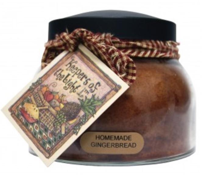 A Cheerful Giver Homemade Gingerbread Mama Jar Candle-gingerbread candle, jar candles, Jacksonville candles