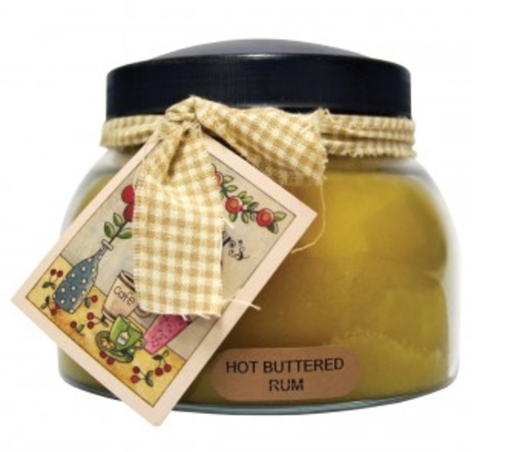 A Cheerful Giver Hot Buttered Rum Mama Jar Candle-rum candle, jar candles, Jacksonville candles