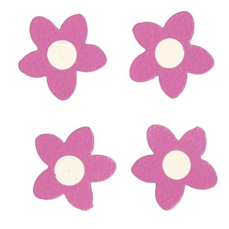 Mini Flowers, 4-Pack, Hot Pink-Roeda, magnet, photo, display