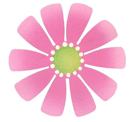 Magnetic Medium Flower, Hot Pink-magnets, photo display, flower