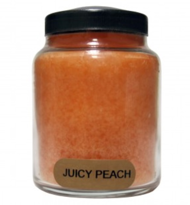 A Cheerful Giver Juicy Peach Baby Jar Candle-peach candle, a cheerful giver, fruit candle, Jacksonville candles
