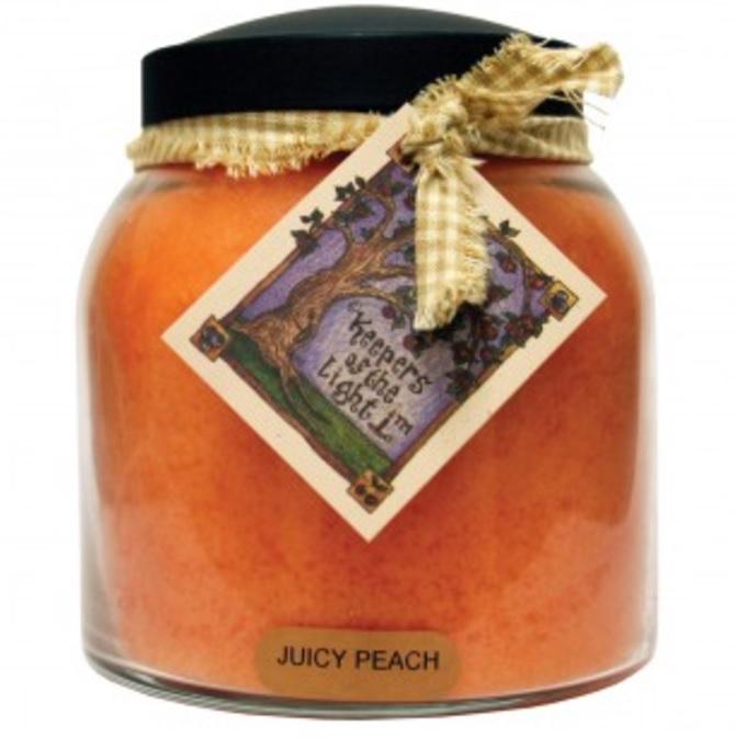 A Cheerful Giver Juicy Peach Papa Jar Candle-peach candle, a cheerful giver, Jacksonville candles, jar candles