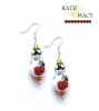 Lucky Ladybug Earrings-Earrings, Kate & Macy