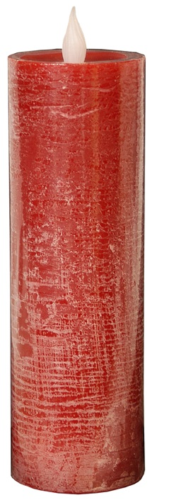 LED Candle, Tall  Red Pillar-