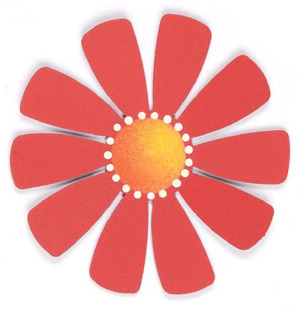 Magnetic Large Flower, Red-Flower, magnet, photo, display