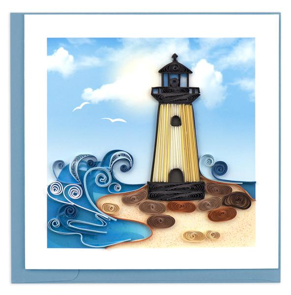 Quilling Card, Lighthouse-greeting card, handmade card, quilling card
