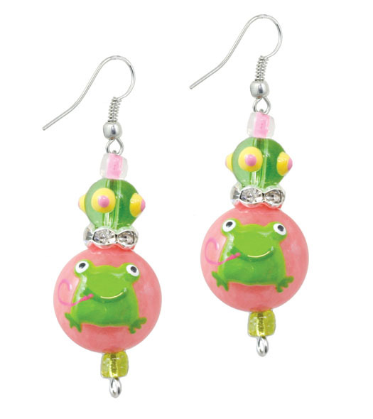 Little Frog Earrings-Jewelry, Kate & Macy