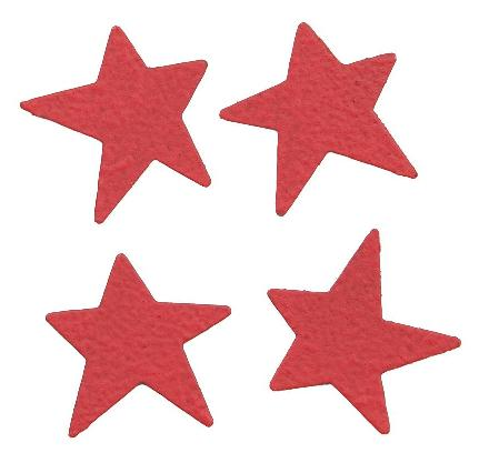 Mini Stars, 4-Pack, Red-rodea, magnet, stars, photo, display