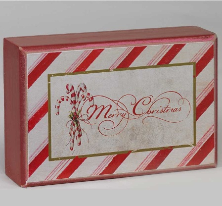 Merry Christmas Candy Cane Brick-merry christmas, holiday, brick,