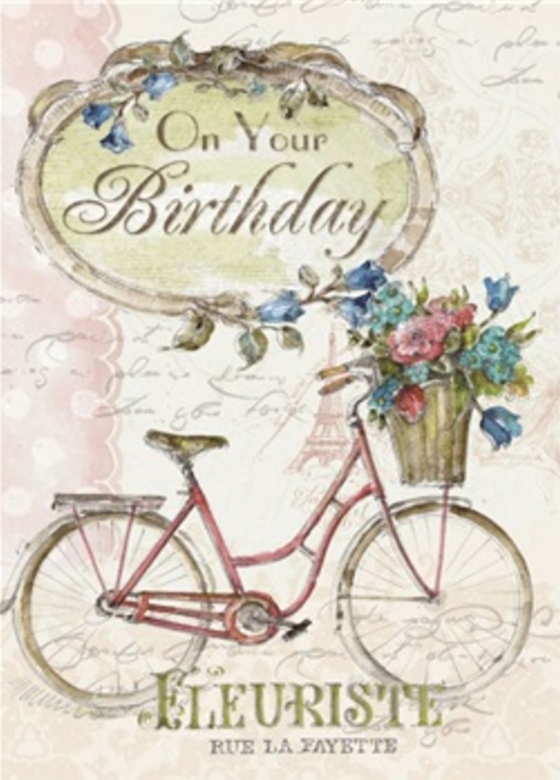 Birthday Card, Paris Bicycle-birthday, card, paris, bicycle