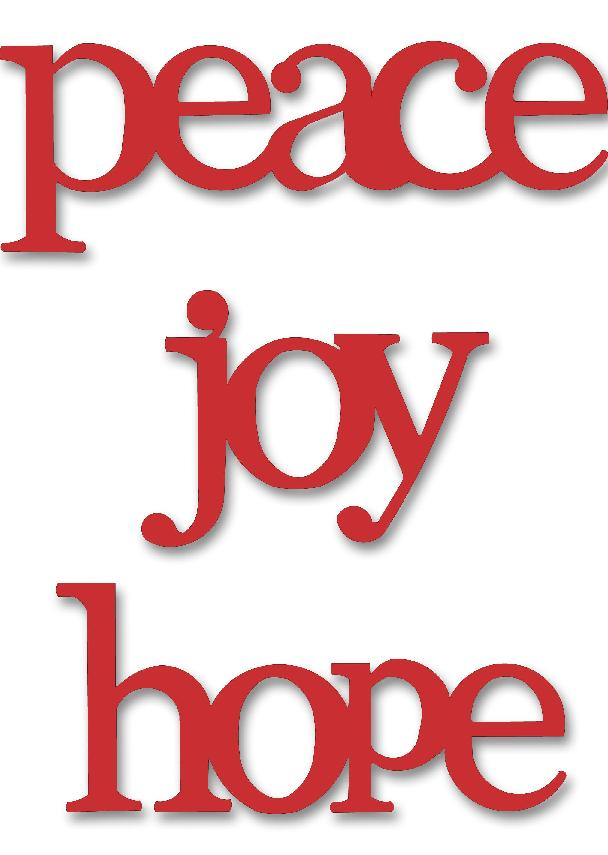 Joy Hope Peace, 3-Pack Red-Roeda, Christmas, magnets, photo, display
