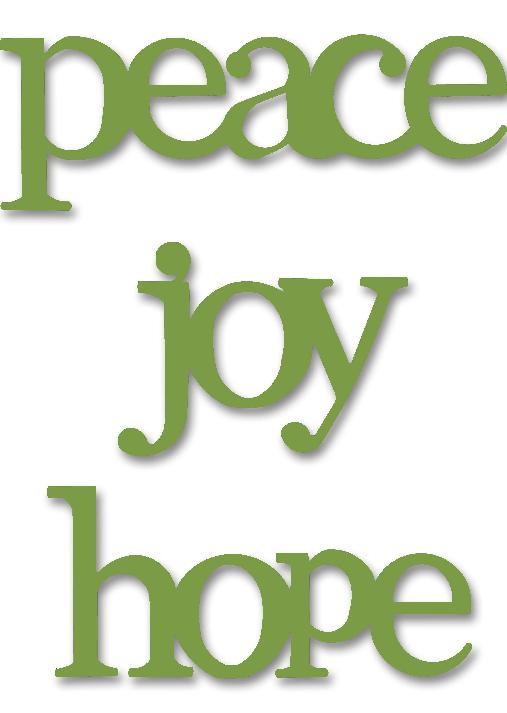 Joy, Hope, Peace, 3-Pack Green-Roeda, photo, display, magnet