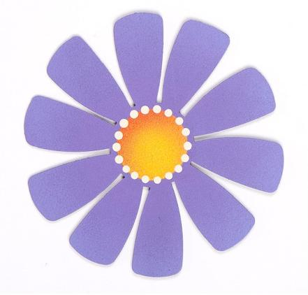 Medium Flower, Purple-roeda, magnet, photo, display
