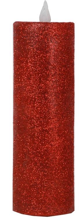 LED Candle, Medium Red Pillar-