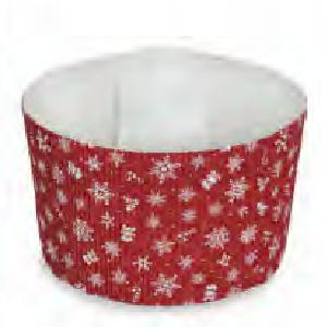 Paper Bakeware, Cake Baking Pans, Red Snowflake-bakeware, paper, oven safe, welcome home