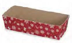 Paper Bakeware, Loaf Baking Pans, Red Snowflake-paper, bakeware, christmas, welcome home