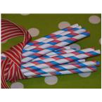 Red, White and Blue Striped Paper Straws-red white and blue, striped straws, stars and stripes, paper straws