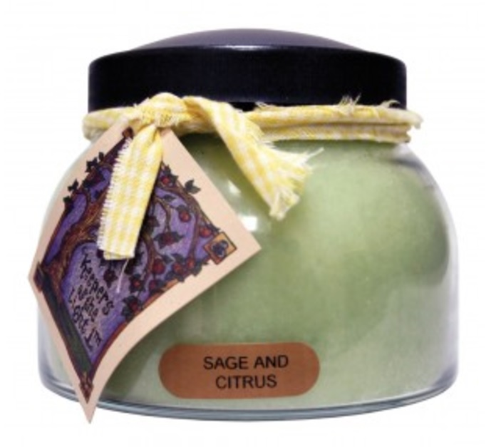 A Cheerful Giver Sage and Citrus Mama Jar Candle-sage and citrus candle, keepers of light, a cheerful giver, jar candles